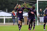 FOOTBALL - FRIENDLY GAMES 2010/2011 - GIRONDINS BORDEAUX v FC TOURS - 24/07/2010 - PHOTO JEAN MARIE HERVIO / DPPI - JOY GOAL VUJADIN SAVIC (BDX)