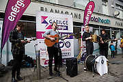 Repro free: Launch of Seachtian Na Gaeilge le Energia  on the streets of Galway where there was loads of entertainment and Seo Linn played. Seachtian Na Gaeilge le Energia  runs nationwide from the 1st  till the 17th of March . For more details see snag.ie .<br /> Photo:Andrew Downes  <br /> Photo:Andrew Downes