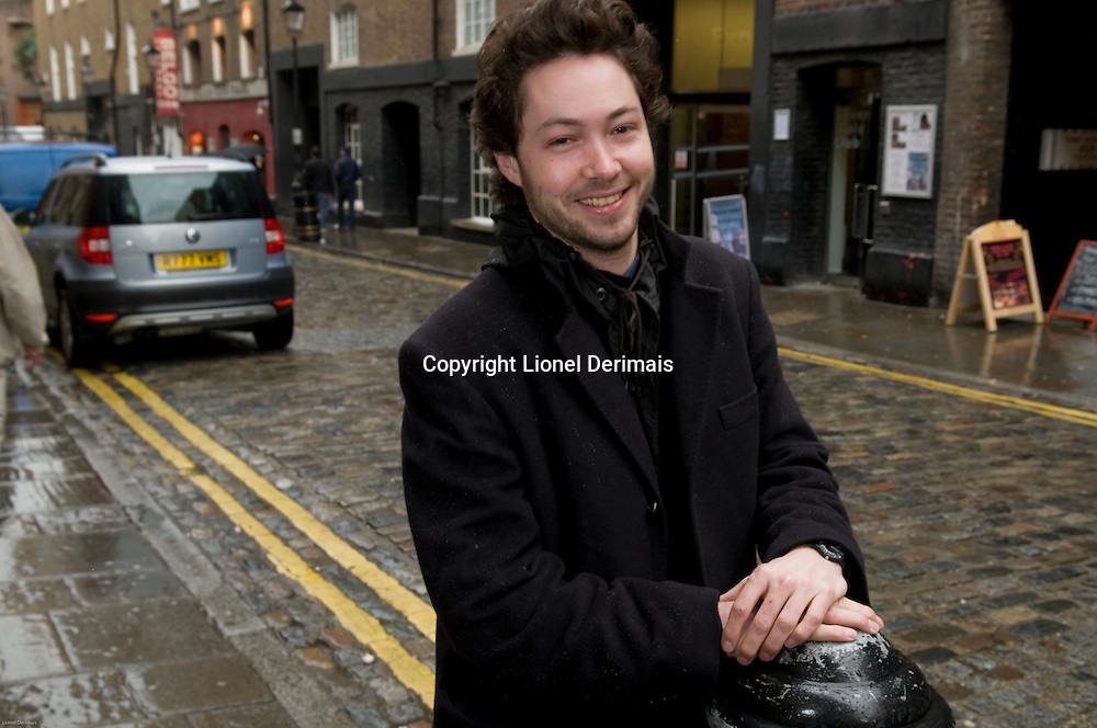 Danish Alexander Host, one of the founders of Sanitov Studio photographed in Covent Garden, London.