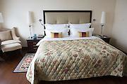 A guest room in the Raffles Hotel in Beijing.