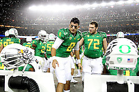 Quarterback Marcus Mariota (8) of the Oregon Duck in action against the Arizona Wildcats during the Pac-12 Championship at Levi Stadium on December 5, 2014 in Santa Clara, California. (Photo by Jed Jacobsohn for ESPN the Magazine)