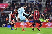 Gonzalo Higuain (9) of Chelsea passes the ball during the Premier League match between Bournemouth and Chelsea at the Vitality Stadium, Bournemouth, England on 30 January 2019.