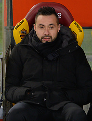 December 26, 2018 - Rome, Italy - Roberto De Zerbi during the Italian Serie A football match between A.S. Roma and Sassuolo at the Olympic Stadium in Rome, on december 26, 2018. (Credit Image: © Silvia Lore/NurPhoto via ZUMA Press)