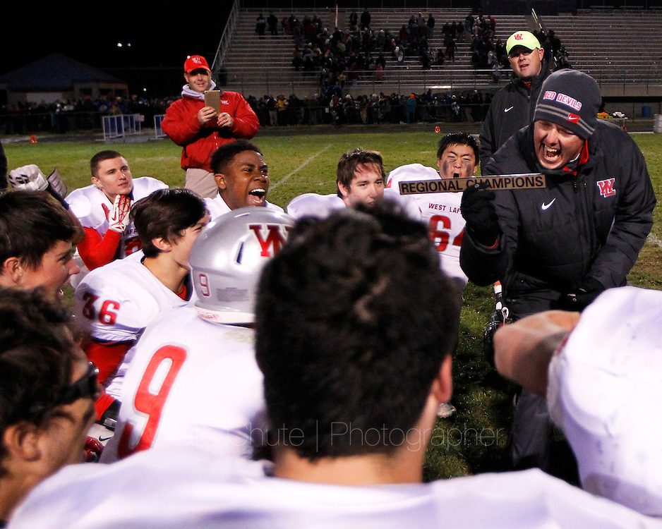 West Lafayette takes on Bellmont in the regional championship in Decatur on Friday, November 13, 2015.
