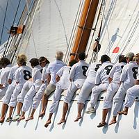 Moonbeam IV aux R?gates Royales de Cannes.Ce bateau (sous un autre nom) a appartenu ^ SAS Rainier de Monaco.