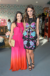 Left to right, SHIRA SUVEYKE (Co President/ Chief Merchant at THE OUTNET.COM) and ROSANNA FALCONER at the launch of Matthew Williamson's 'Sea to Shore' range for The Outnet.com held at the Matthew Williamson's showroom, Studio 10-11, 135 Salusbury Road, London NW6 on 5th May 2016