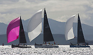 Largs Regatta Festival 2018<br /> <br /> Day 1 - ,GBR8272T, Satisfaction, Nicholas Marshall, St Mary's Loch SC, J 92, GBR8543R, Jings, Robin Young, CCC, J109<br /> <br /> Images: Marc Turner