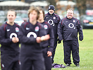 Esher, Surrey, Sunday February 28th 2010: England Ladies Head Coach Gary Street watches a warm up before the Ladies Six Nations match between England and Ireland at Esher Rugby Club. (Pic by Andrew Tobin/Focus Images)
