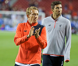 SANTA CLARA, USA - Saturday, July 30, 2016: Liverpool's injured Lucas Leiva during the International Champions Cup 2016 game against AC Milan on day ten of the club's USA Pre-season Tour at the Levi's Stadium. (Pic by David Rawcliffe/Propaganda)