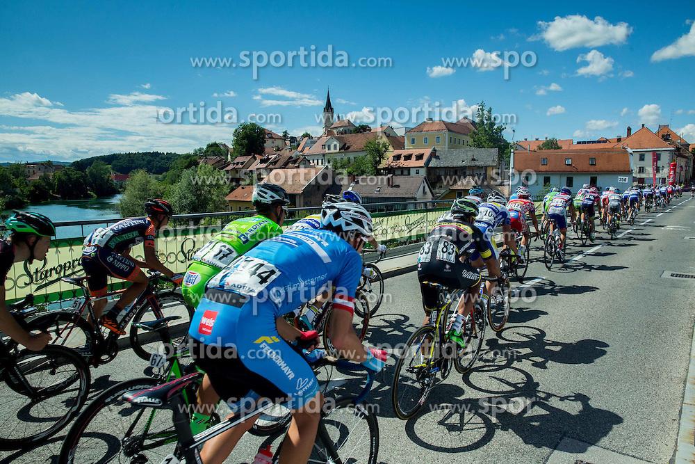 Peloton at bridge in Novo mesto during Stage 4 of 22nd Tour of Slovenia 2015 from Rogaska Slatina to Novo mesto (165,5 km) cycling race  on June 21, 2015 in Slovenia. Photo by Vid Ponikvar / Sportida