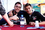 Filippo Baldi Rossi, Diego Flaccadori<br /> Raduno Nazionale Maschile Senior<br /> Autografi con tifosi<br /> Folgaria, 27/07/2017<br /> Foto Ciamillo-Castoria/ M. Brondi