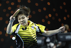 February 23, 2018 - London, England, United Kingdom - Ching I CHENG of Chinese Taipei during ITTF Team World Cup match between Ching I CHENG of Chinese Taipei and Song I KIM of DPR Korea, Quarter Finals Women singles match on February 23, 2018 in Copper Box Arena, Olympic Park, London. (Credit Image: © Dominika Zarzycka/NurPhoto via ZUMA Press)