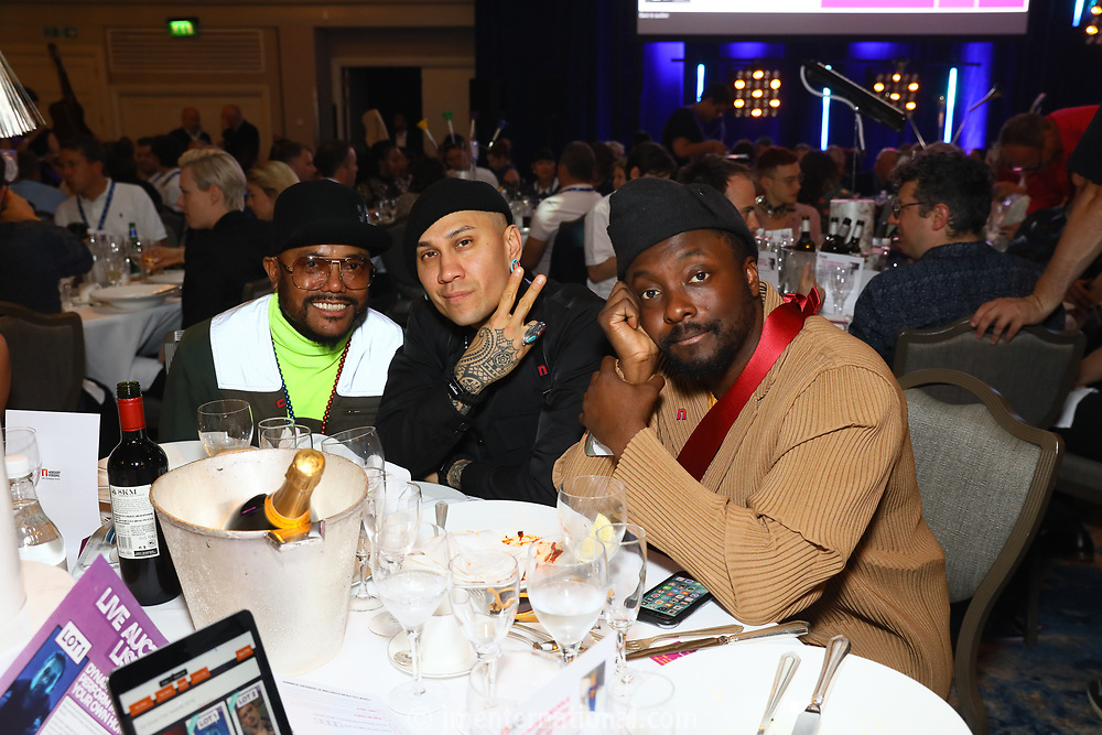 Black Eyed Peas at their table during O2 Silver Clef Awards 2019, Grosvenor House, London, UK, Friday 05 July 2019<br /> Photo JM Enternational