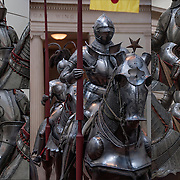 Collage of Armor for Horse and Rider.<br />