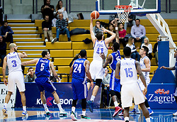 Ante Zizic of Cibona vs Octavius Ellis of KK Mornar during basketball match between KK Cibona Zagreb (CRO) and KK Mornar (MNE) in Round #4 of FIBA Champions League 2016/17, on November 9, 2016 in Drazen Petrovic Basketball center, Zagreb, Croatia. Photo by Vid Ponikvar / Sportida