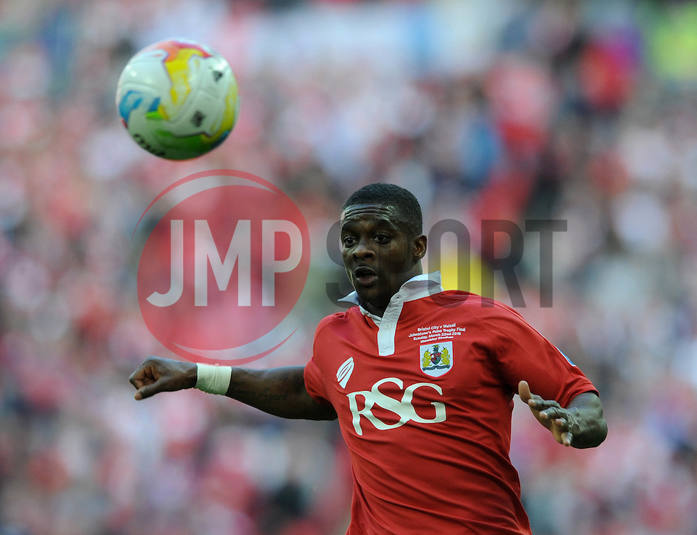 Bristol City's Kieran Agard - Photo mandatory by-line: Dougie Allward/JMP - Mobile: 07966 386802 - 22/03/2015 - SPORT - Football - London - Wembley Stadium - Bristol City v Walsall - Johnstone Paint Trophy Final