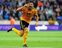 Ruben Neves of Wolverhampton Wanderers scores a goal making it 1-1- Mandatory by-line: Nizaam Jones/JMP - 11/08/2018/ - FOOTBALL -Molineux  - Wolverhampton, England - Wolverhampton Wanderers v Everton - Premier League