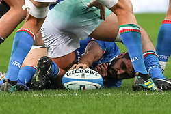 November 24, 2018 - Rome, Rome, Italy - Tito Tebaldi during the Test Match 2018 between Italy and New Zealand at Stadio Olimpico on November 24, 2018 in Rome, Italy. (Credit Image: © Emmanuele Ciancaglini/NurPhoto via ZUMA Press)
