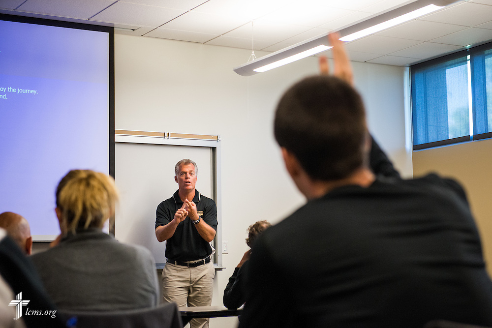 Jon Hamro leads a class at Concordia University Irvine on Wednesday, July 9, 2014, in Irvine, Calif. LCMS Communications/Erik M. Lunsford