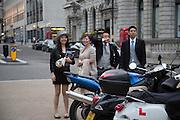 Royal Ascot racegoers  in Haymarket.,  at Waterloo station. London. 19 June 2013.