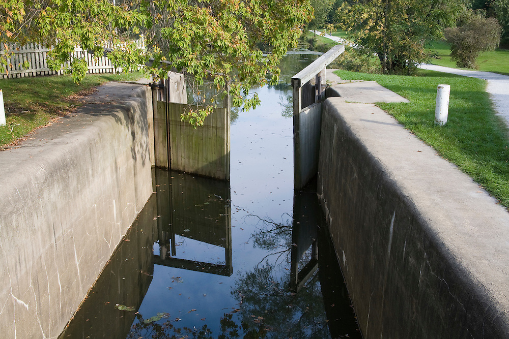 Restored locks on Ohio and Erie Canal.