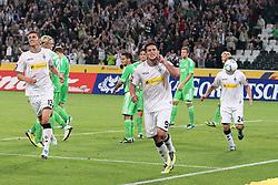 19.08.2011,  BorussiaPark, Mönchengladbach, GER, 1.FBL, Borussia Mönchengladbach vs Vfl Wolfsburg, im Bild.Torjubel / Jubel  nach dem 3:1 durch Raul Bobadilla (Mönchengladbach #9) (M)..// during the 1.FBL, Borussia Mönchengladbach vs Vfl Wolfsburg on 2011/08/19, BorussiaPark, Mönchengladbach, Germany. EXPA Pictures © 2011, PhotoCredit: EXPA/ nph/  Mueller *** Local Caption ***            ****** out of GER / CRO  / BEL ******
