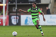 Forest Green Rovers Reece Brown(10) runs forward during the EFL Sky Bet League 2 match between Cheltenham Town and Forest Green Rovers at LCI Rail Stadium, Cheltenham, England on 14 April 2018. Picture by Shane Healey.
