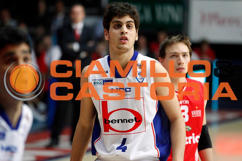 DESCRIZIONE : Cantu Lega A 2010-11 Quarti di finale Play off Gara 1 Bennet Cantu Cimberio Varese<br /> GIOCATORE : Sebastiano Bianchi<br /> SQUADRA : Bennet Cantu<br /> EVENTO : Campionato Lega A 2010-2011<br /> GARA : Bennet Cantu Cimberio Varese<br /> DATA : 18/05/2011<br /> CATEGORIA : Ritratto<br /> SPORT : Pallacanestro<br /> AUTORE : Agenzia Ciamillo-Castoria/G.Cottini<br /> Galleria : Lega Basket A 2010-2011<br /> Fotonotizia : Cantu Lega A 2010-11 Quarti di finale Play off Gara 1 Bennet Cantu Cimberio Varese<br /> Predefinita :