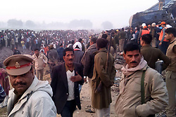 November 20, 2016 - Allahabad, Uttar Pradesh, India - Rescue officials on the spot where 14 coaches of the Indore-Patna express derailed, killing around 90 people and injuring 150. (Credit Image: © Prabhat Kumar Verma/Pacific Press via ZUMA Wire)