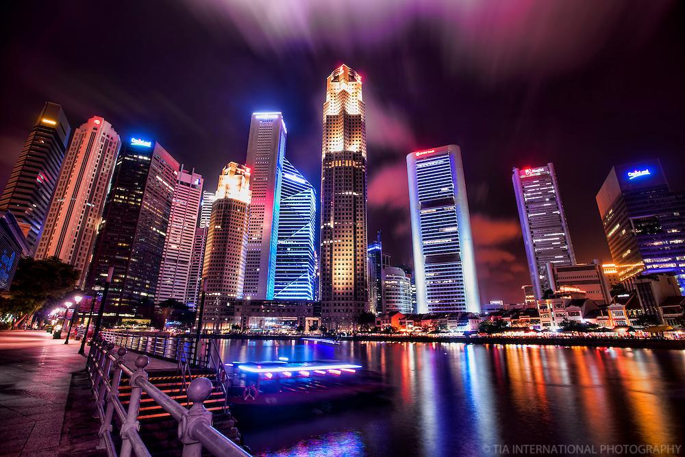 Singapore Skyline @ Night