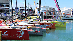 Auckland-Volvo Ocean Race yachts dock in Auckland for stop over
