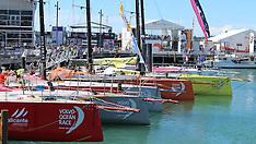 Auckland-Volvo Ocean Race yachts dock in Auckland for stop over