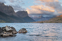 Saint Mary Lake at sunrise Glacier National Park Montana