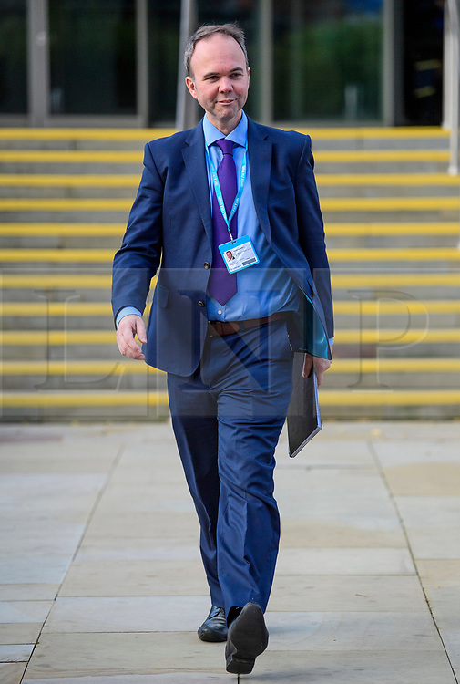 © Licensed to London News Pictures. 04/10/2017. Manchester, UK. GAVIN BARWELL, Chief of staff to Theresa May, at Conservative Party Conference. The four day event is expected to focus heavily on Brexit, with the British prime minister hoping to dampen rumours of a leadership challenge. Photo credit: Ben Cawthra/LNP