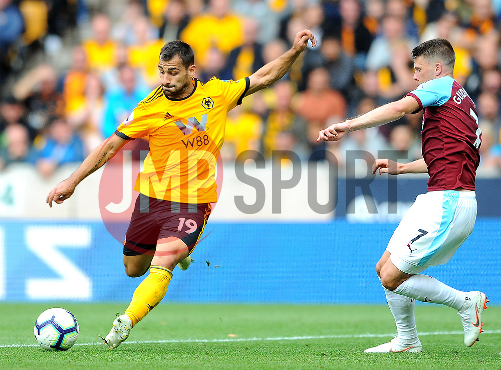 Leo Bonatini of Wolverhampton Wanderers takes a shot at goal- Mandatory by-line: Nizaam Jones/JMP- 16/09/2018 - FOOTBALL - Molineux - Wolverhampton, England - Wolverhampton Wanderers v Burnley - Premier League
