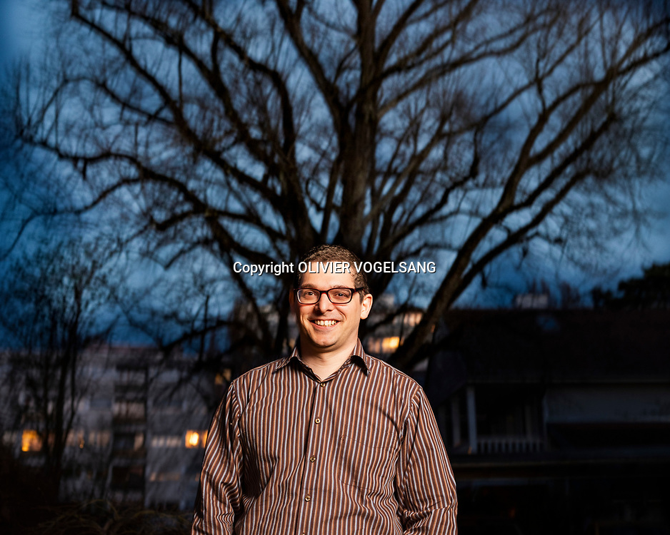 Genève, avril 2018. Paul-Olivier Dehaye, mathematician and data-privacy activist. © Olivier Vogelsang