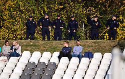 BELGRADE, SERBIA - Tuesday, November 6, 2018: Serbian police during the UEFA Youth League Group C match between FK Crvena zvezda Under-19's and Liverpool FC Under-19's at Čukarički Stadium. (Pic by David Rawcliffe/Propaganda)