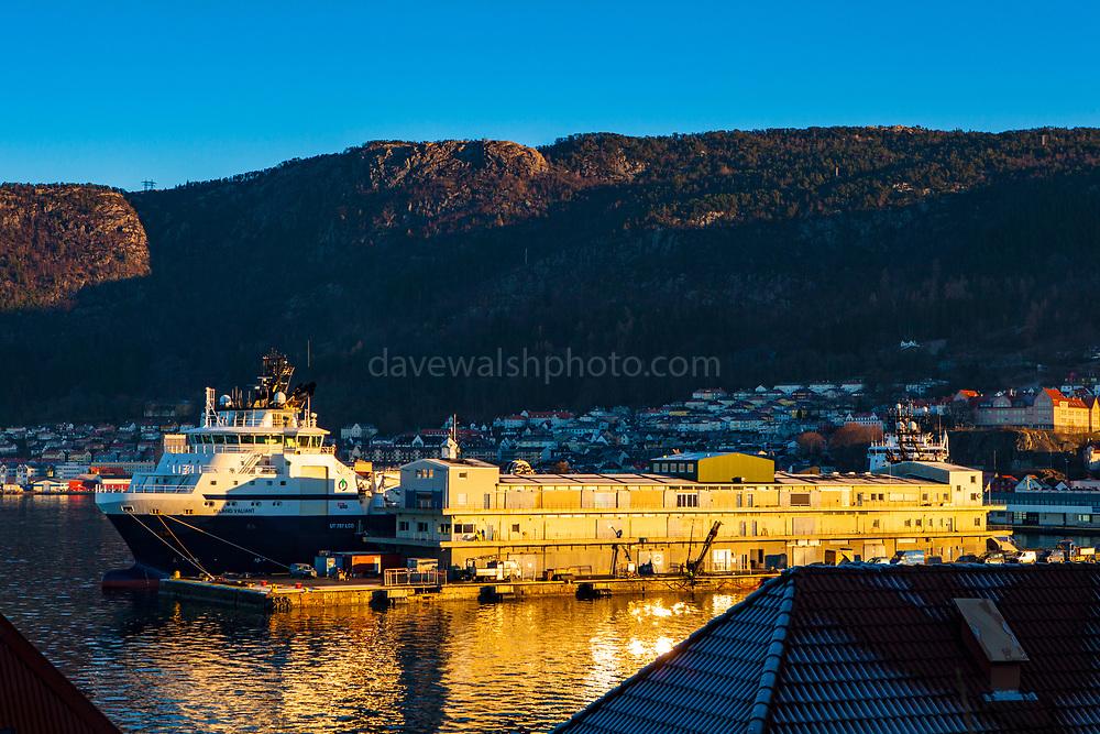 Island Valient, offshore supply ship in Bergen, Norway