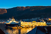 Island Valient, offshore supply ship in Bergen, Norway
