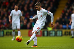 Alberto Moreno of Liverpool in action - Mandatory byline: Jason Brown/JMP - 07966386802 - 06/03/2016 - FOOTBALL - London - Selhurst Park - Crystal Palace v Liverpool - Barclays Premier League