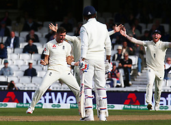 September 10, 2018 - London, Greater London, United Kingdom - England's Alastair Cook  gets caught by Rishabh Pant of India and bowled by Cheteshwar Pujara of India.during International Specsavers Test Series 5th Test match Day Four  between England and India at Kia Oval  Ground, London, England on 10 Sept 2018. (Credit Image: © Action Foto Sport/NurPhoto/ZUMA Press)