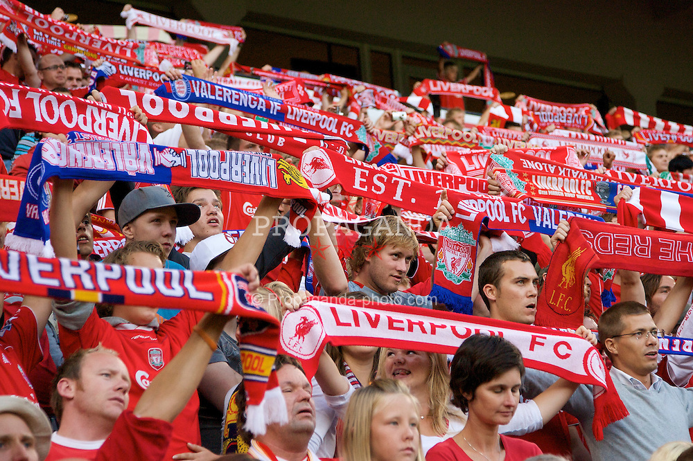 OSLO, NORWAY - Tuesday, August 5, 2008: Liverpool's Norwegian supporters during a pre-season friendly match against Valerenga at the Ullevaal Stadion. (Photo by David Rawcliffe/Propaganda)