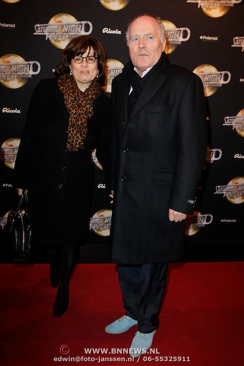 NLD/Amsterdam/20120217 - Premiere Saturday Night Fever, Peter Tuinman en partner Inge
