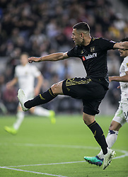 November 1, 2018 - Los Angeles, California, U.S - Christian Ramirez #12 of the LAFC scores a goal to give them a 2-1 lead during their MLS playoff game with the Real Salt Lake on Thursday November 1, 2018 at Banc of California Stadium in Los Angeles, California. LAFC vs Real Salt Lake. (Credit Image: © Prensa Internacional via ZUMA Wire)
