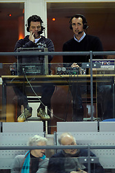 17-01-2009 VOLLEYBAL: PIET ZOOMERS D - ORTEC NESSELANDE: APELDOORN<br /> Nesselande wint vrij eenvoudig met 3-1 van Dynamo / Peter Blange als co commentator - media tv em Onno Hansum<br /> ©2009-WWW.FOTOHOOGENDOORN.NL