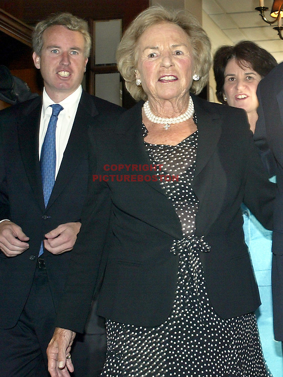 (07/26/04- Boston, MA) Kennedy-BC club party.Robert Kennedy Jr, ethel Kennedy and Kathleen Kennedy Townsend(072604partymg-Staff Photo: mark Garfinkel.saved phto1/tues)