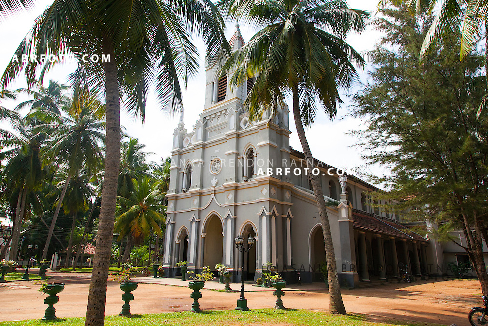 The church of Our Lady of sorrows<br /> Pallansena Road<br /> Kochchikade. Negombo is a major city in Sri Lanka, located on the west coast of the island and at the mouth of the Negombo Lagoon