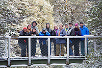 g adventures classic highlights of new zealand winter tour 2015 coromandel cathedral cove photos tamaki maori village taranaki falls walk in the snow