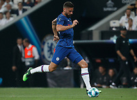 ISTANBUL, TURKEY - AUGUST 14: Olivier Giroud of Chelsea in action during the UEFA Super Cup match between Liverpool and Chelsea at Vodafone Park on August 14, 2019 in Istanbul, Turkey. (Photo by MB Media/Getty Images)