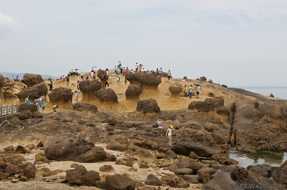 Tourists visit Yeiliao Coastal Park in Taiwan to see some amazing natural geology.